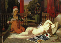 Jean Auguste Dominique Ingres and Paul Flandrin Odalisque with Female Slave