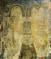James Ensor Penitent Troopers in a Cathedral