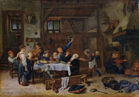 Jan Steen Merry Company at a Meal