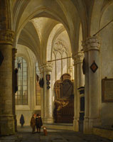 Job Adriaensz. Berckheyde Church Interior