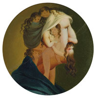 Louis Léopold Boilly - Head of a man in profile composed of six female nudes