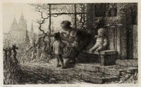 Matthijs Maris Before Going to School