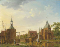 Isaac Ouwater the Younger The Keetpoort en Oost and Kaaipoort, Edam