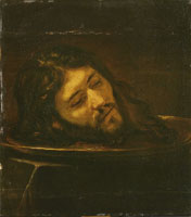 Rembrandt Workshop Head of John the Baptist on a Platter