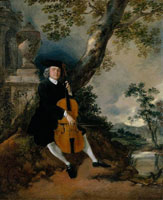 Thomas Gainsborough - The Rev. John Chafy Playing the Violoncello in a Landscape