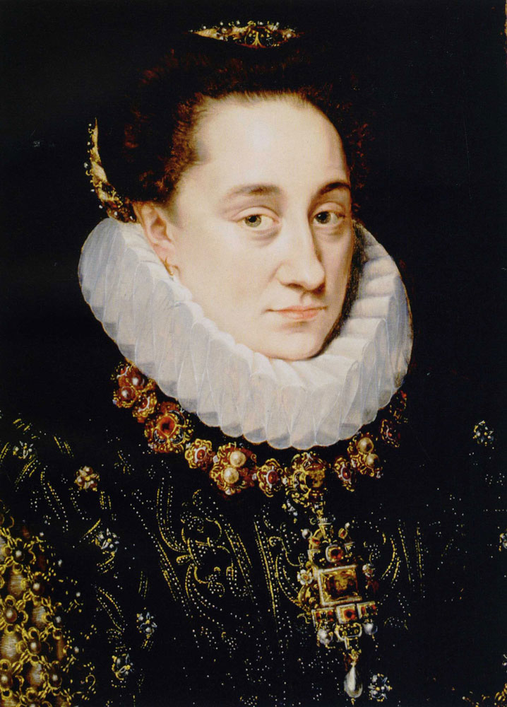 Adriaen Thomasz. Key - Bust Portrait of Princess Maria of Nassau