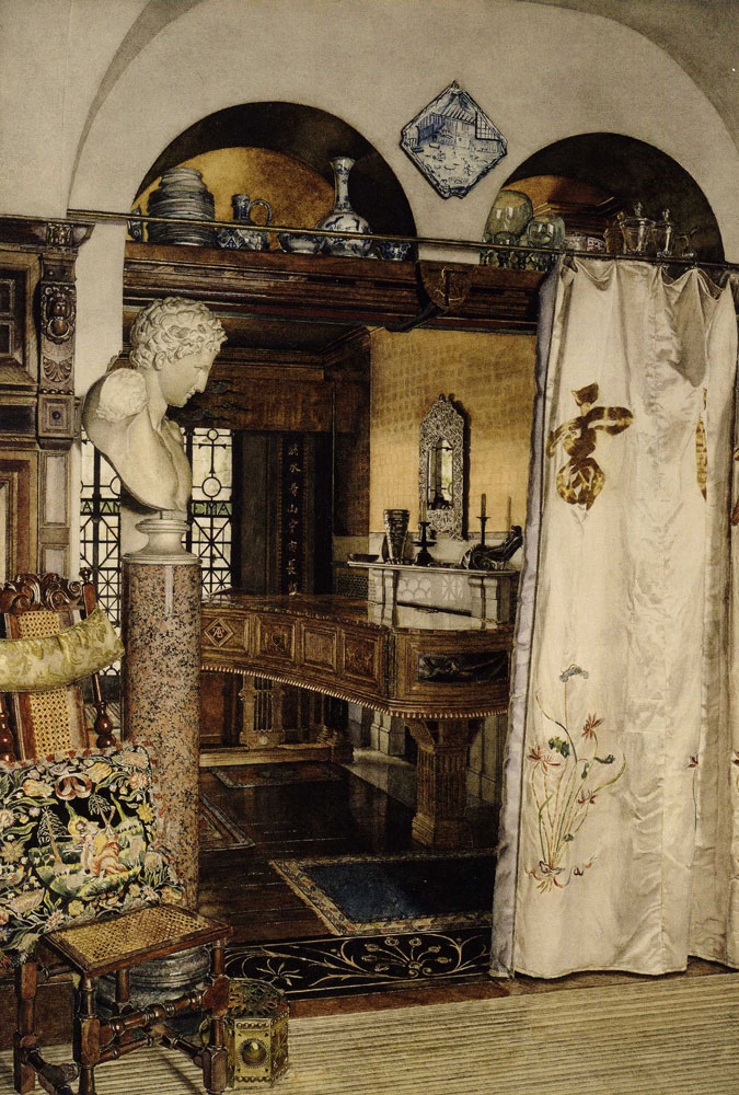 Anna Alma-Tadema - Interior of the Gold Room, Townshend House, London