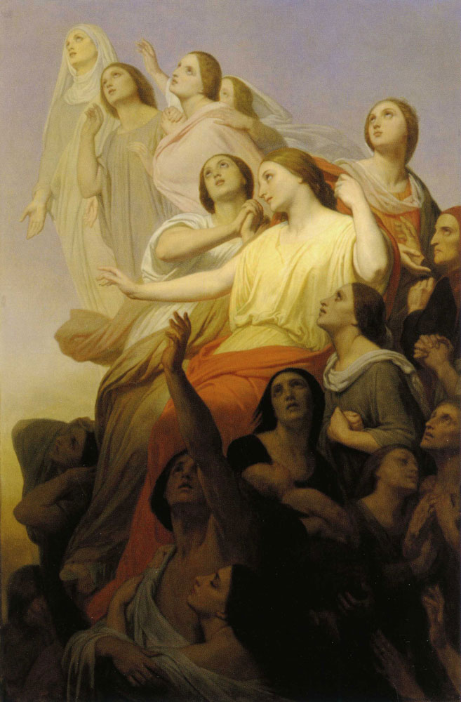 Ary Scheffer - The Sorrows of the Earth Rise up to Heaven and Change into Hope and Bliss