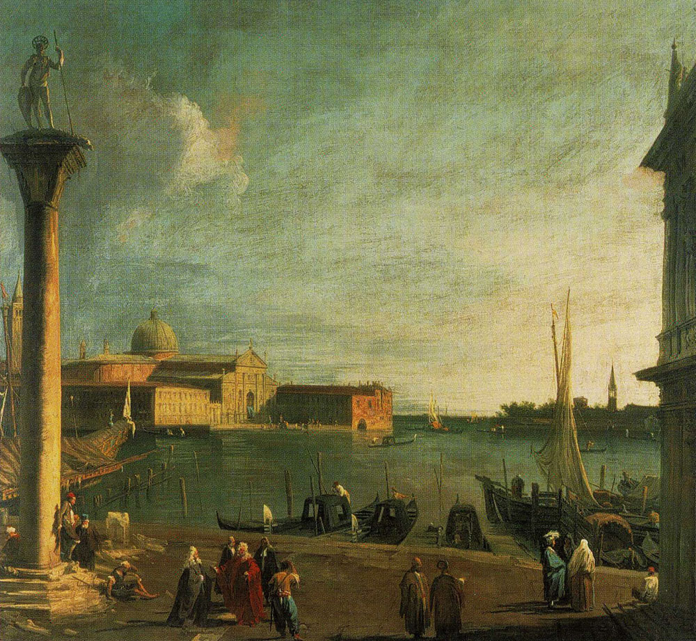 Canaletto - The Bacino di S. Marco with the S. Giorgio Maggiore seen from the Piazzetta