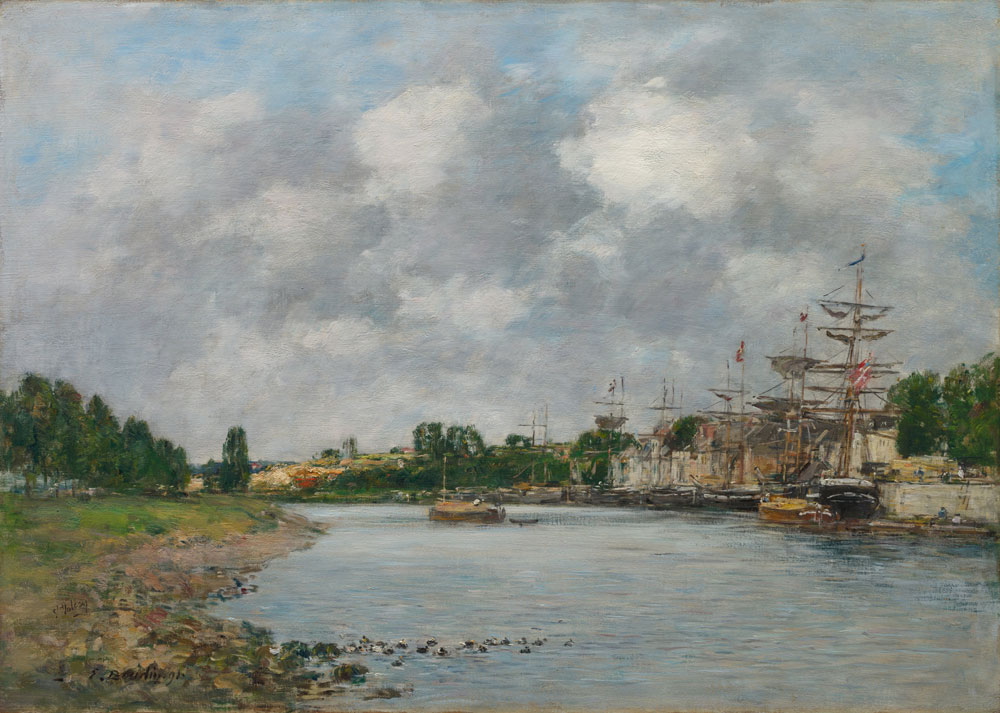 Eugène Boudin - View of the Port of Saint-Valéry-sur-Somme