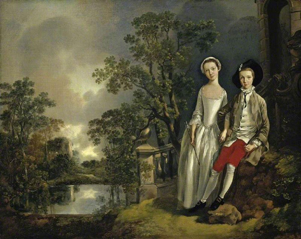 Thomas Gainsborough - Heneage Lloyd and His Sister, Lucy