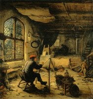 Adriaen van Ostade The Painter in His Studio
