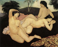 Emile Bernard After the Bath, the Nymphs