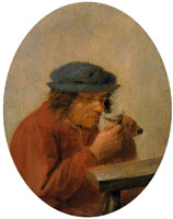 Adriaen Brouwer - A peasant cutting his thumbnail