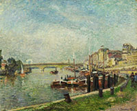 Camille Pissarro - Quai de Paris and the Pont Corneille, Rouen, Sunshine
