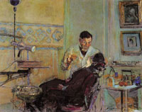 Edouard Vuillard Dr. Georges Viau in His Office Treating Annette Roussel