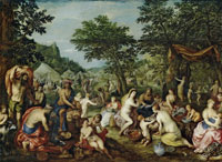 Hendrick van Balen - The Purification of the Israelites at Mount Sinai