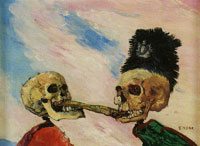 James Ensor Skeletons Fighting over a Pickled Herring