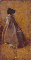 John Constable Study of a Girl in a Cloak and Bonnet