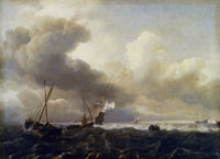Ludolf Backhuysen Ships in a Storm