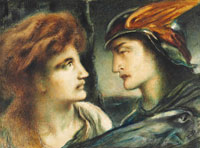 Simeon Solomon Mercury and Proserpina
