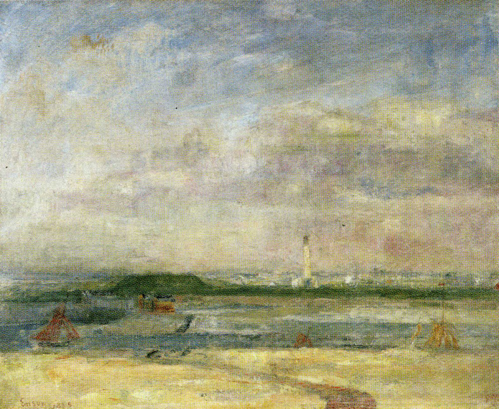 James Ensor - The Lighthouse at Ostend