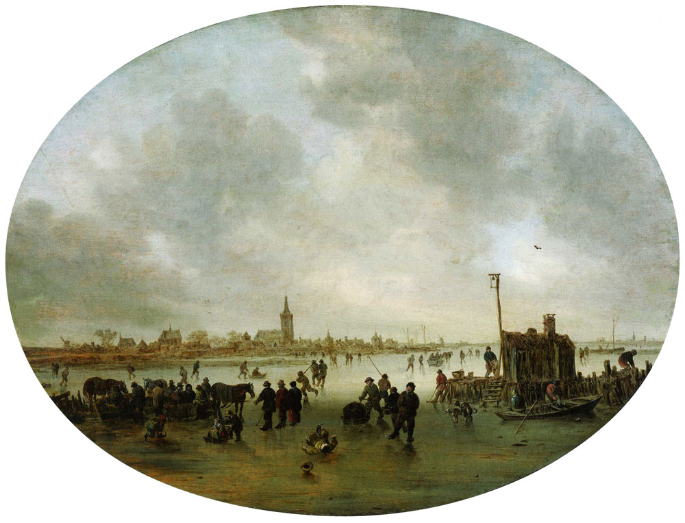 Jan van Goyen - A River in Winter with Skaters