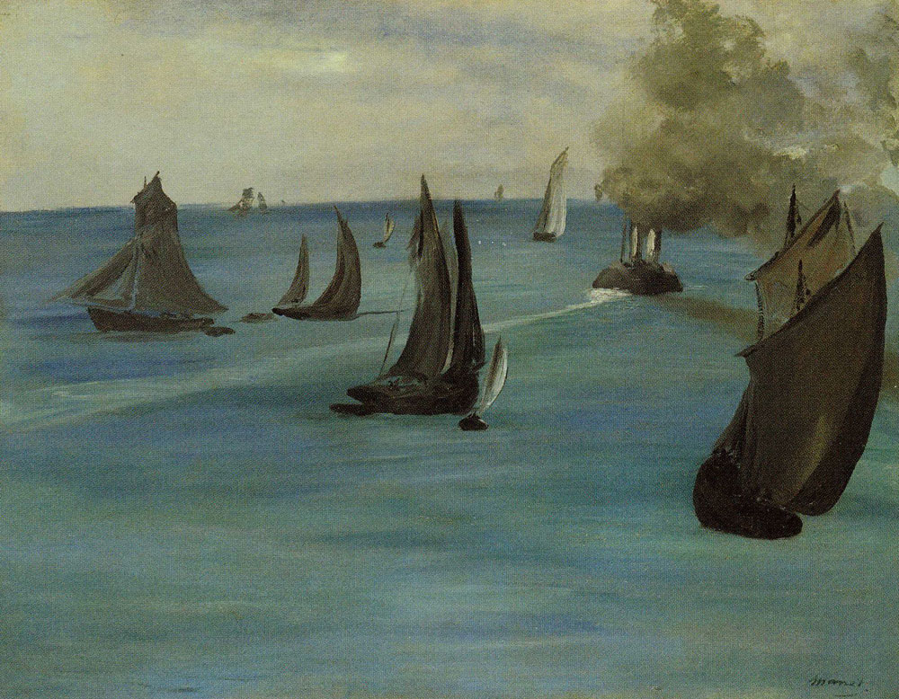 Edouard Manet - Steamboat Leaving Boulogne