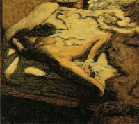 Pierre Bonnard Woman Dozing on a Bed (The Indolent Woman)