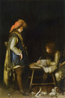 Gerard ter Borch An Officer Writing a Letter