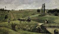 Camille Pissarro The Route d'Ennery at Pontoise