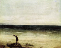 Gustave Courbet The Artist on the Seashore at Palavas