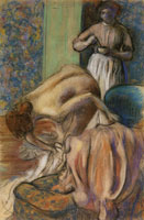 Edgar Degas Breakfast after the Bath