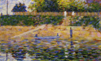 Georges Seurat Boat by the Riverbank