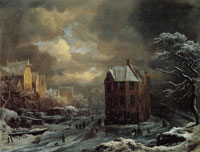 Jacob van Ruisdael Winter View of the Hekelveld in Amsterdam