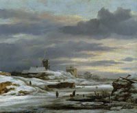 Jacob van Ruisdael Winter Landscape with a Mill