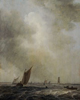 Jan van Goyen The Sea near the Batsentoren