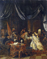 Jan Steen Esther before Ahasuerus