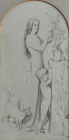 John Everett Millais Sketch for 'The Germ'