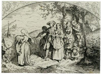 Ludwig Richter Christening Procession