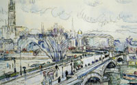 Paul Signac Pont Corneille, Rainy Weather